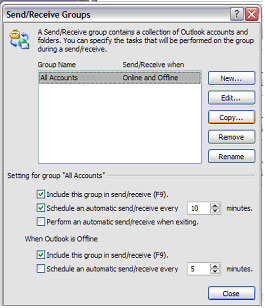 news0102 autosend02 Setup Outlook to Check Your Email Every 10 Minutes