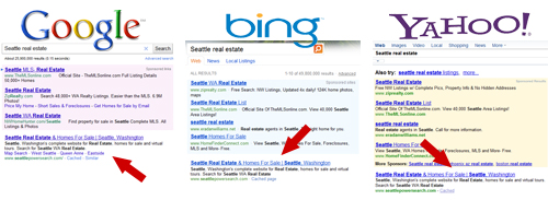 Top Rankings on Google Bing and Yahoo