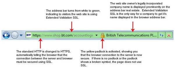 SSL Certificate Protecting a Website